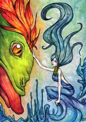 Fire Bird and Nyada by ciacheczko