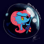 Undyne in a Bubble