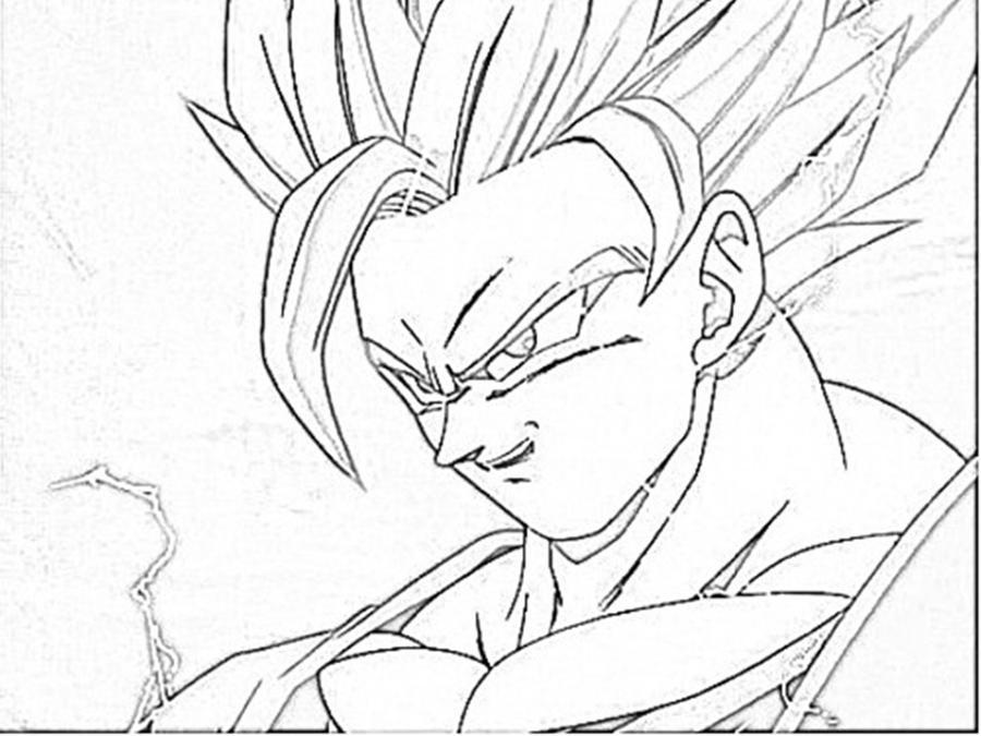 Lujo Imagenes Para Colorear De Goku Fase 4: Goku Fase 2 Para Colorear: Imagenes De Goku Para Colorear