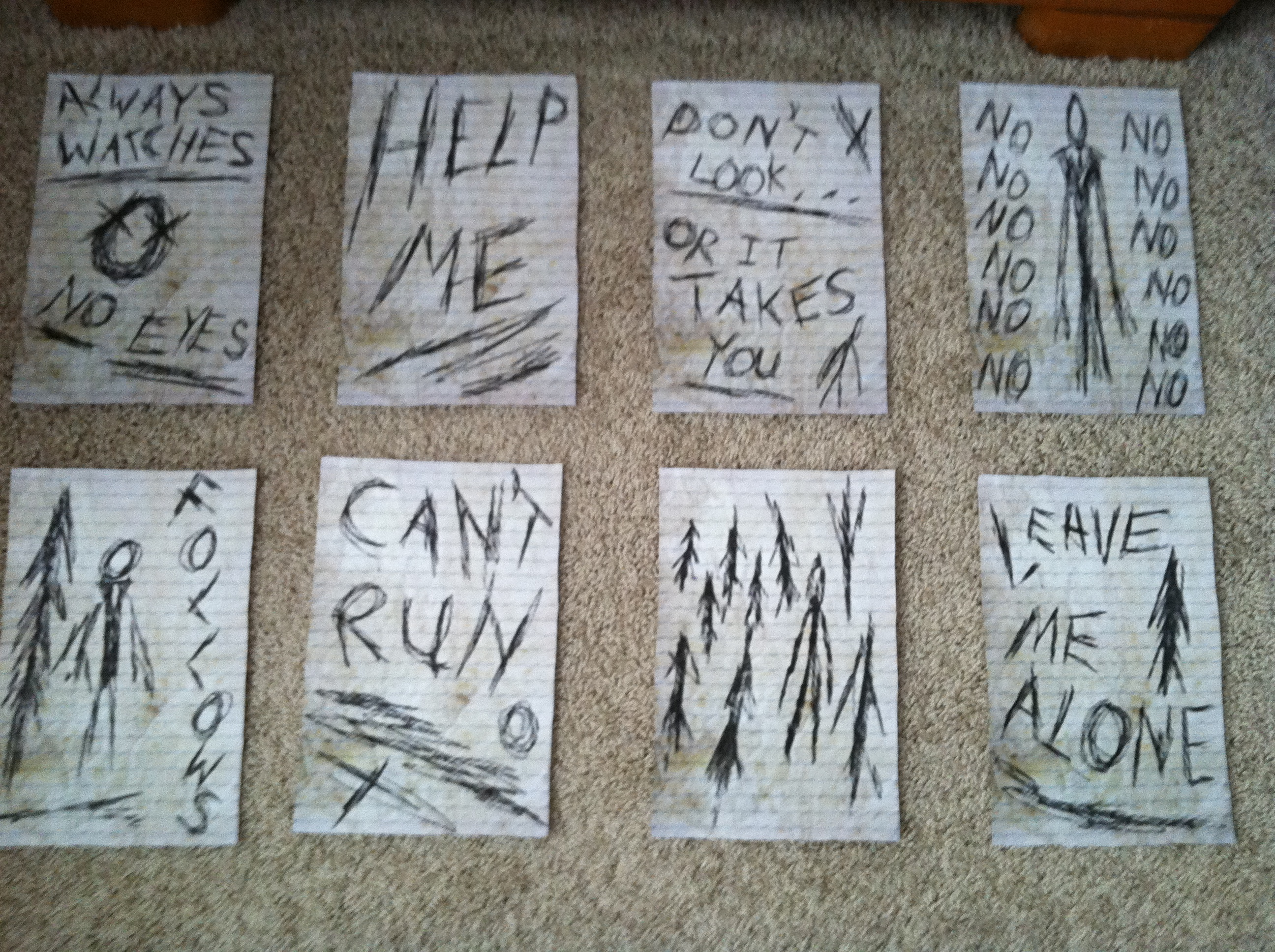 All 8 Pages From The Game, Slender by nsawlaw58 on DeviantArt