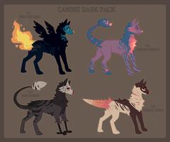 -Canine Adoptables: Dark Pack [OPEN 1\4]- by TzSilviri