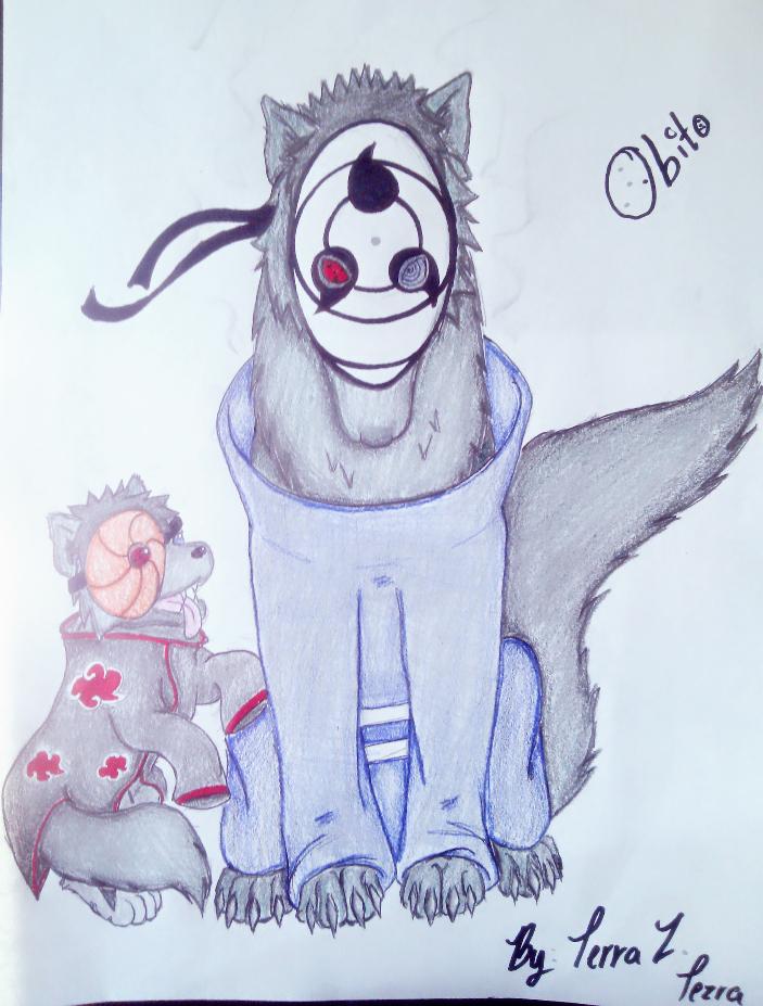 Tobi Wolves ~ Naruto Shippuden Fan Art by ArcticNoxUchiha