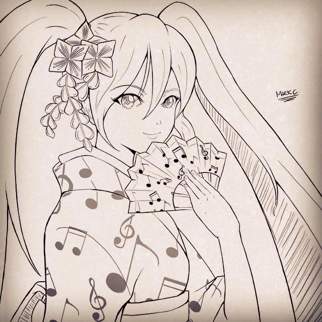 Miku Kimono! by animao89