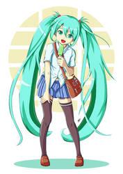 School Girl Miku! by animao89