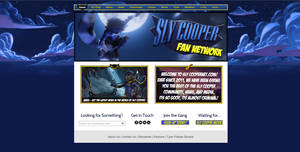 Sly Cooper Fan Network Web Design