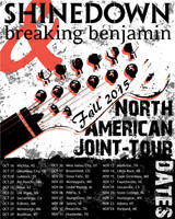 Shinedown and Breaking Benjamin Tour Poster