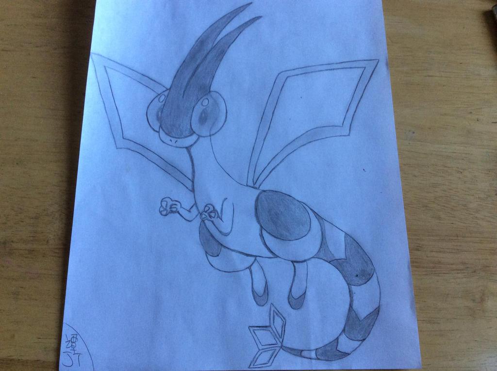 Flygon Drawing by PikachuJenn