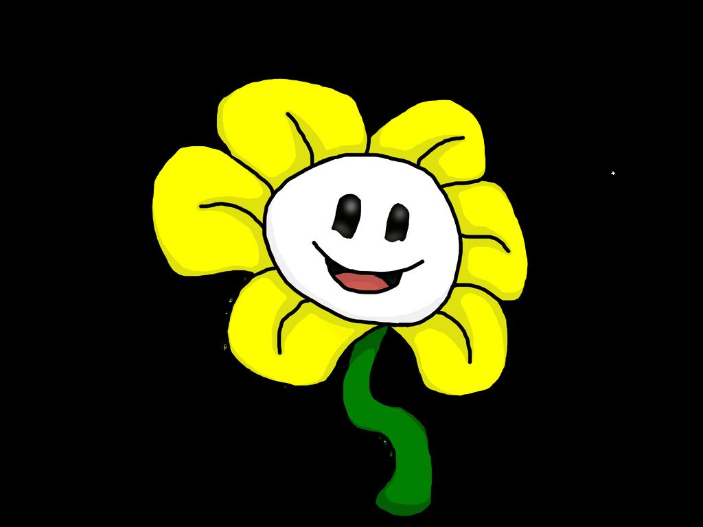 Flowey - Digital Art Attempt by PikachuJenn