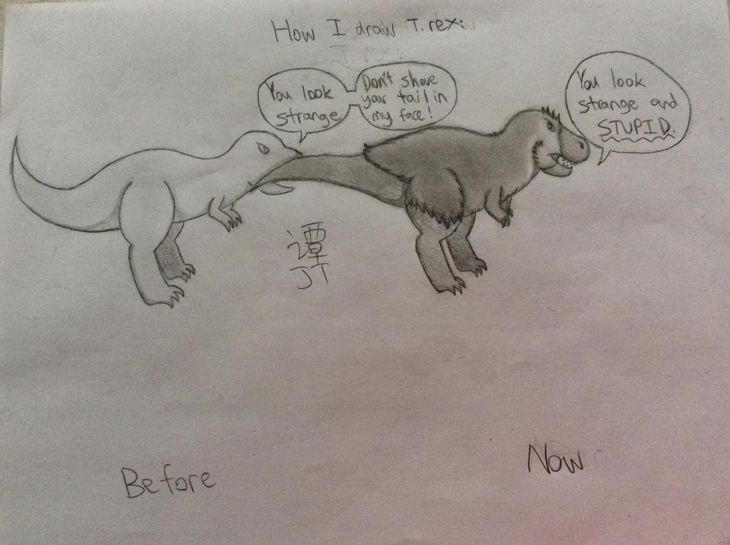How I Draw Tyrannosaurus Rex by PikachuJenn