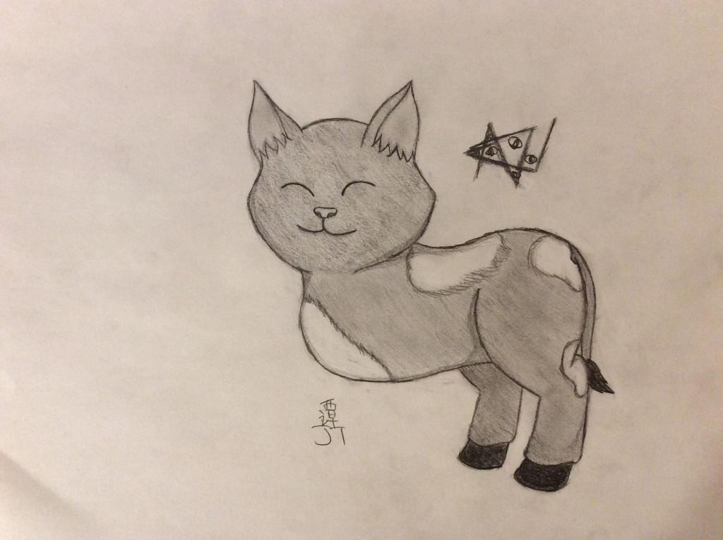 Cow Cat by PikachuJenn