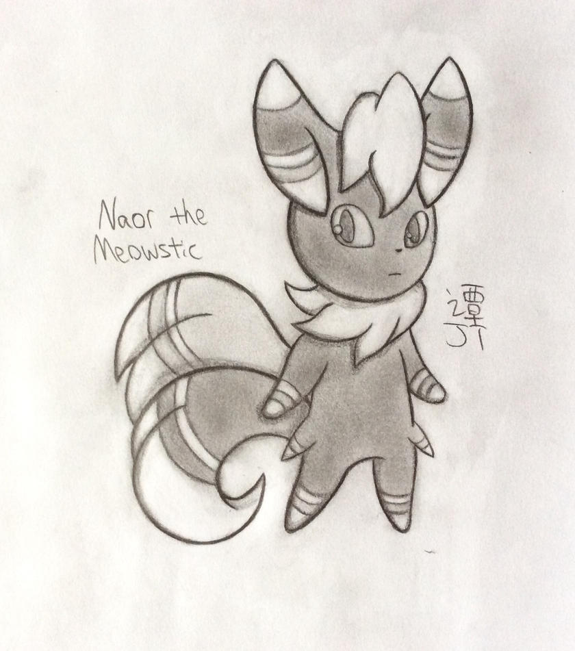(REQUEST) Naor the Meowstic by PikachuJenn