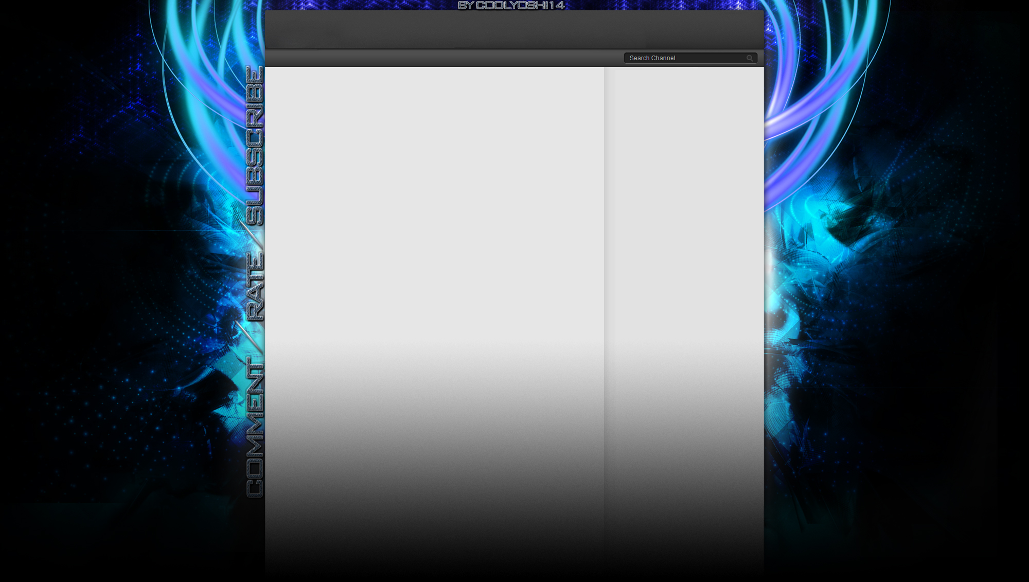 new youtube channel design background by coolyoshi12 on