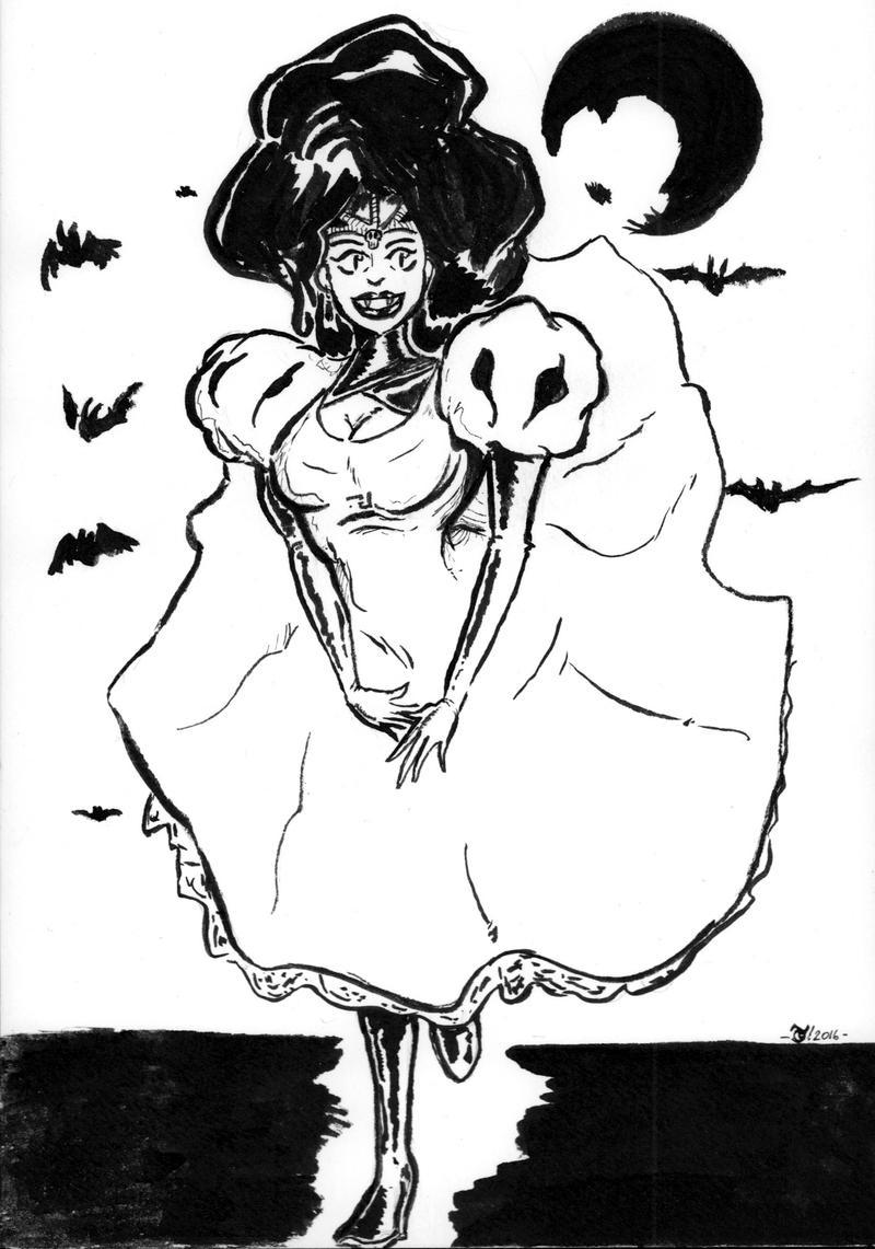Vampire Bride Inktober2016 - 7 by OcioProduction