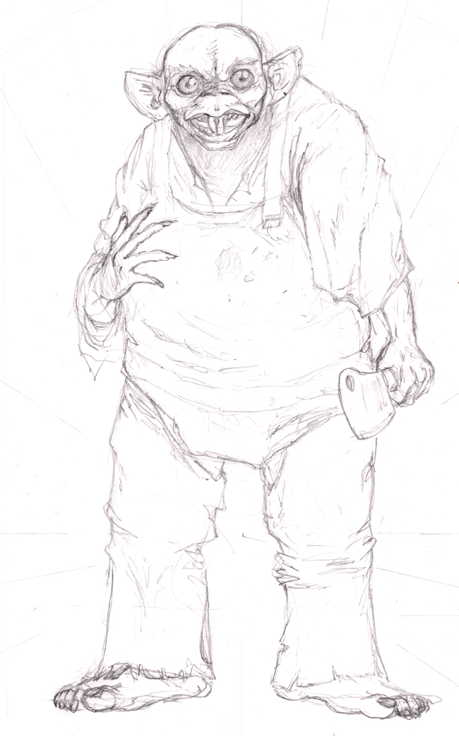 RAT COOK -lowres sketch WIP by OcioProduction