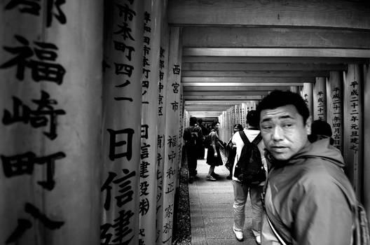 Fushimi Inari inner torii walk
