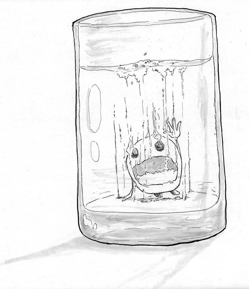 Inktober 04 - Underwater by OcioProduction
