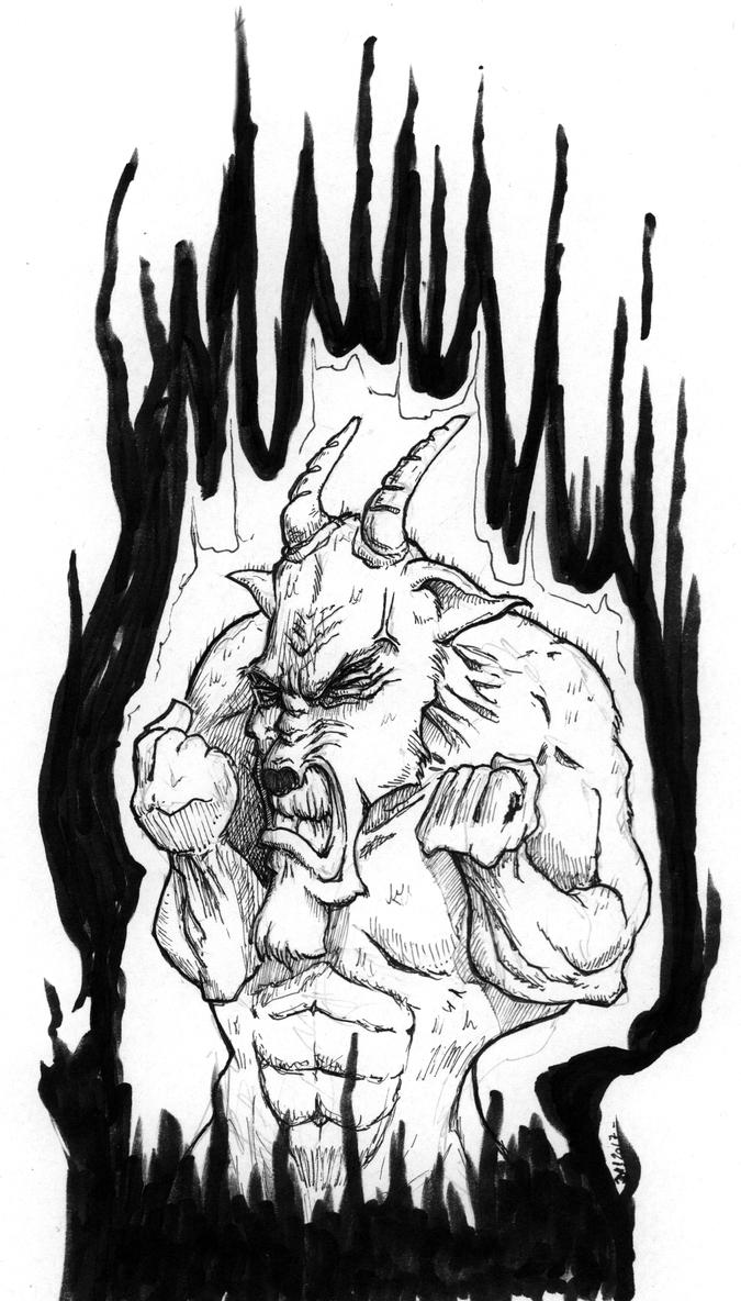Inktober 21 - Furious. really by OcioProduction