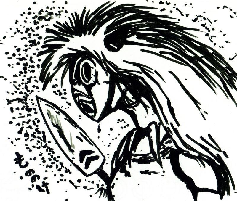 Mononoke fan sketch by OcioProduction