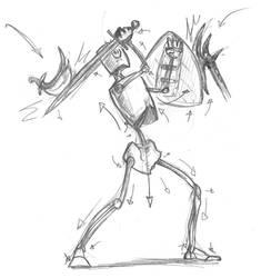 Fantasy pose tut sketch w vectors by OcioProduction