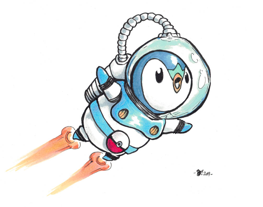 Piplup in the space! by OcioProduction