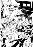 Ghost ink -on Terry Dodson pencils