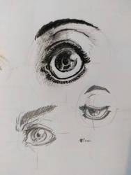 eyes'sketch for badge