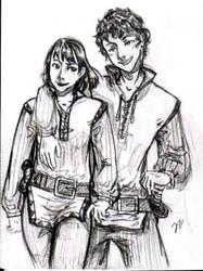 Kel and Dom - Tamora Pierce by carliscrazy