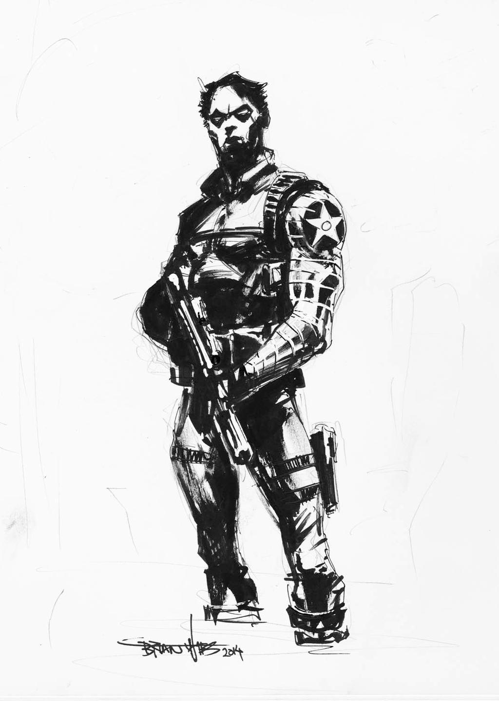 winter soldier by brianthies on deviantart