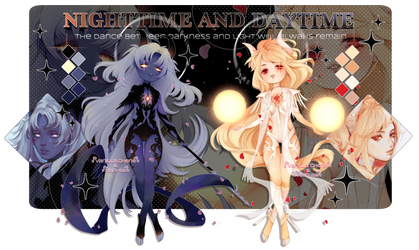 - CLOSED - NIGHTTIME and DAYTIME ADOPTS by Vanilla-Cherie