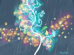 Lovebirds in the Rain