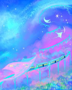Train of Manta Rays