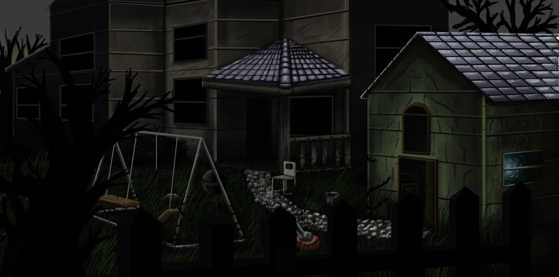 possessed haunted backyard by osirislord on deviantart