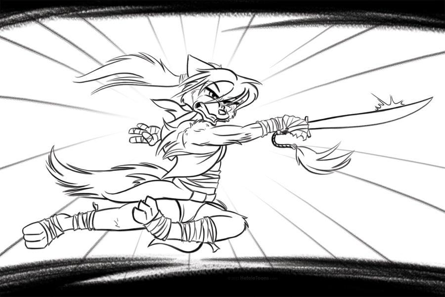 KungFu'ish Wolf by SierraRomeo