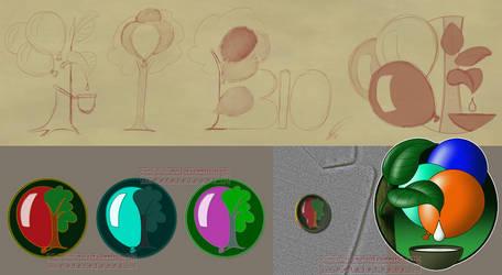 Bio latex balloons logos by SierraRomeo