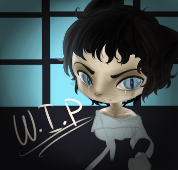 Study, Little Kitty WIP by Shercat-Holmes-RP