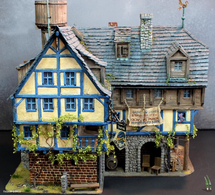 The Ol'Rowdy's Inn - front side by tuskarsart