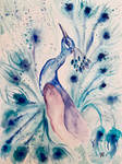 The Blue King (An Abstract Indian Peacock)