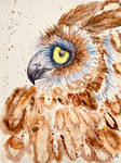 Sorrowful Abstract Horned Owl