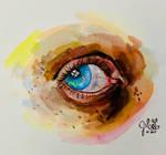 Gouache Eye Study #2