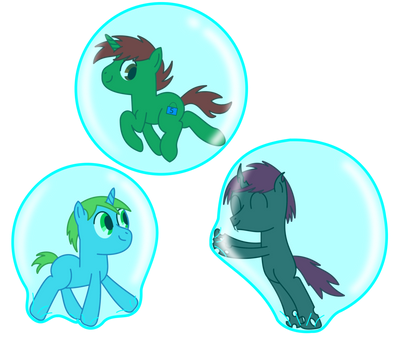 Some bubble fun with old pals  by ChangelingHere