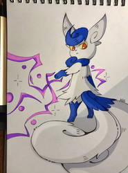 Meowstic by 00Hasha00