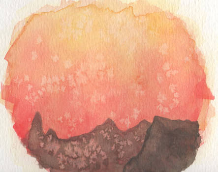 watercolor bg cliff thing