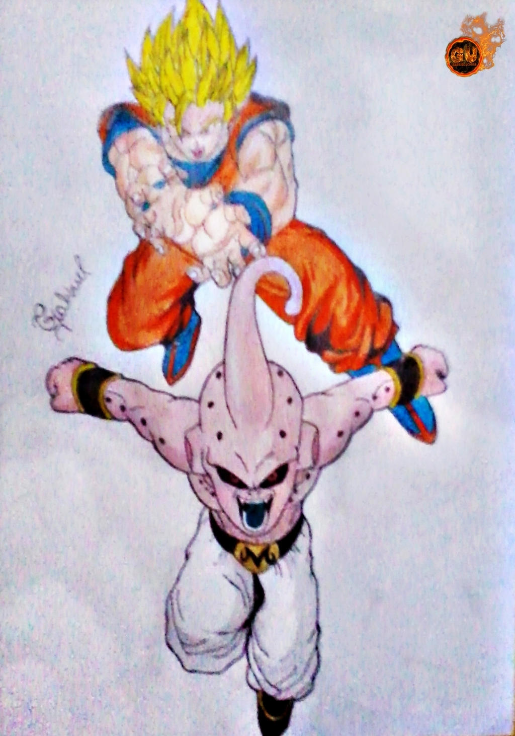 son goku vs kid buu dragon ball z by thesaikoof on