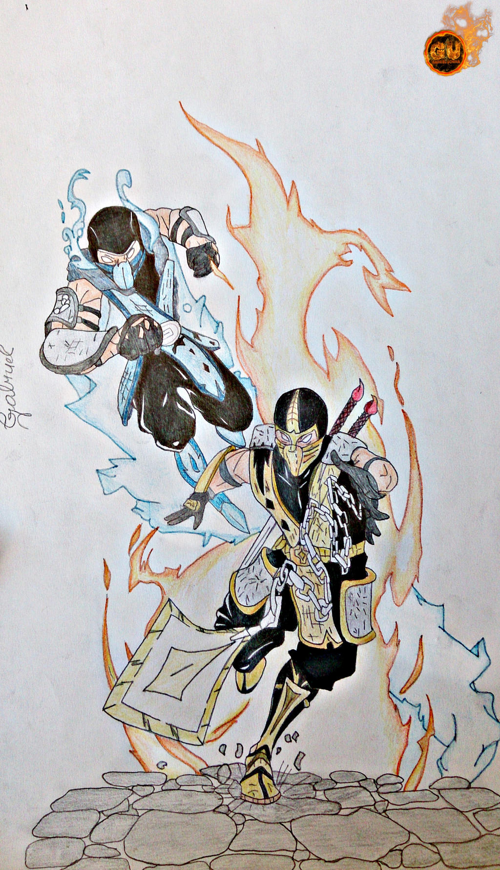 Sub Zero VS Scorpion - Mortal Kombat Drawing by TheSaikoOF ...
