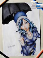 Juvia Lockser - Fairy Tail - Drawing by TheSaikoOF