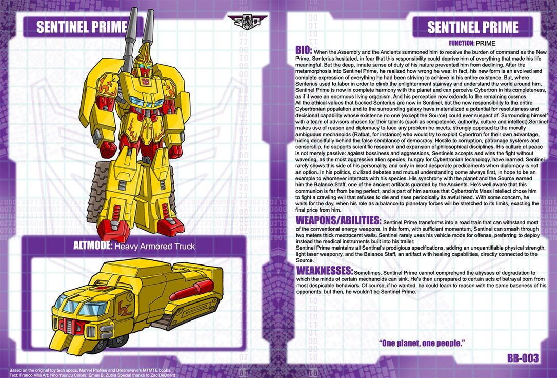 Sentinel Prime Bio by Tf-SeedsOfDeception