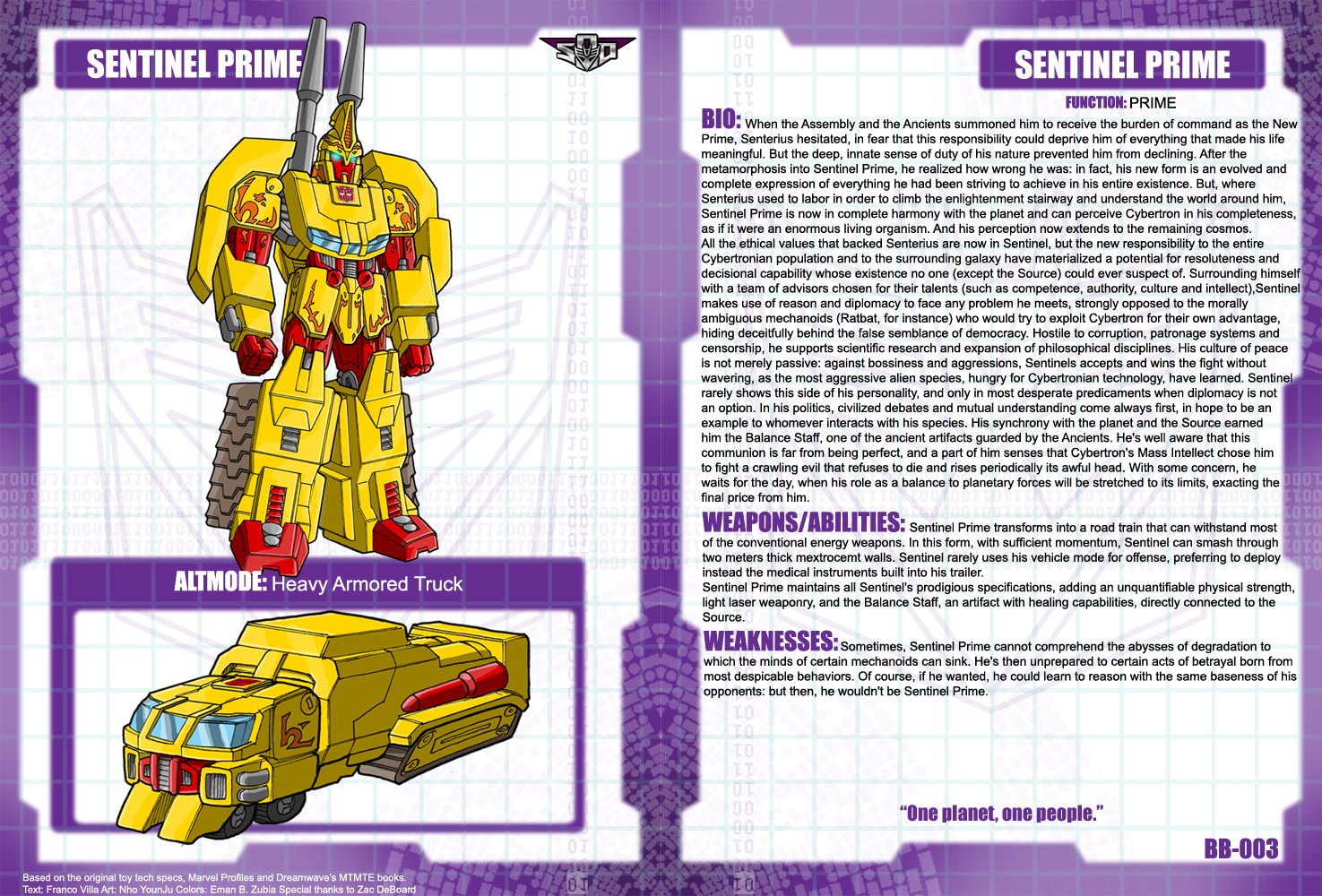 Sentinel Prime Bio by Tf-SeedsOfDeception