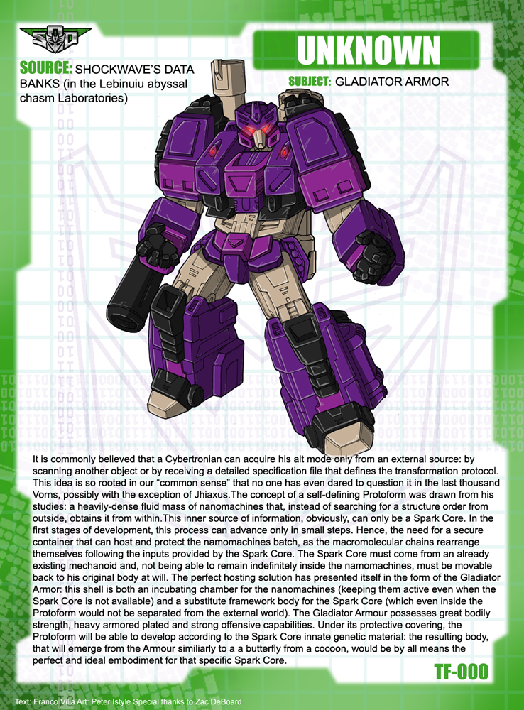 Gladiator Armor tech specs