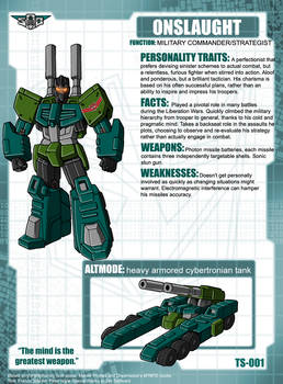 Onslaught Tech Specs