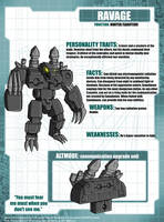 Ravage Tech Specs by Tf-SeedsOfDeception